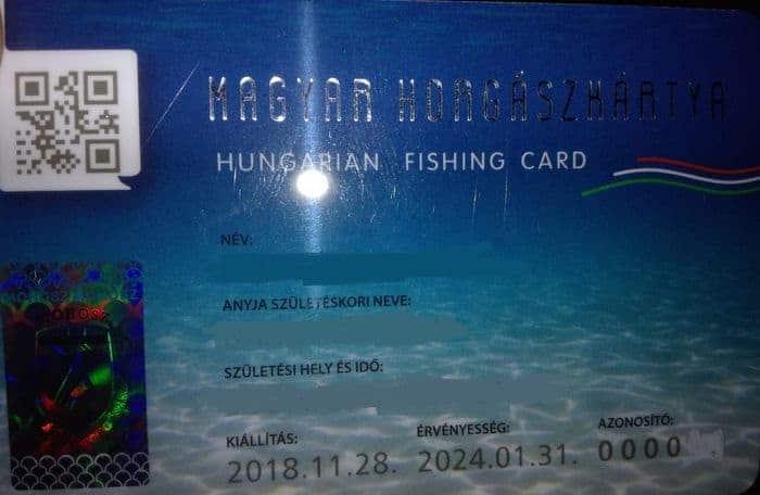 horgászkártya kézbesítése csekk