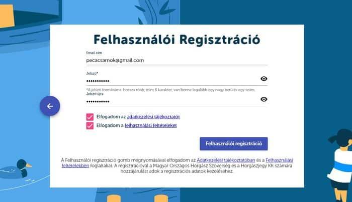 horgászkártya regisztráció
