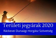 ráckevei dunaági horgász szövetség területi jegyárak 2020
