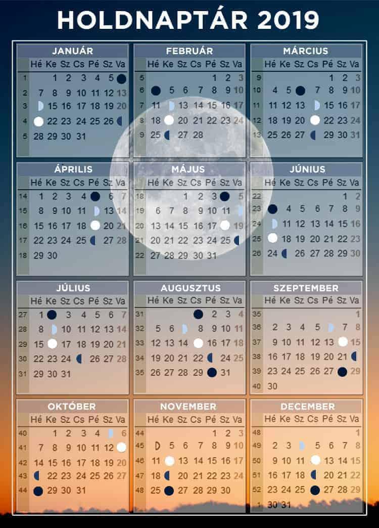 Szolunáris naptár 2019 fogási esély