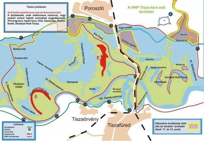 tisza-tavi horgászrend 2018 térkép